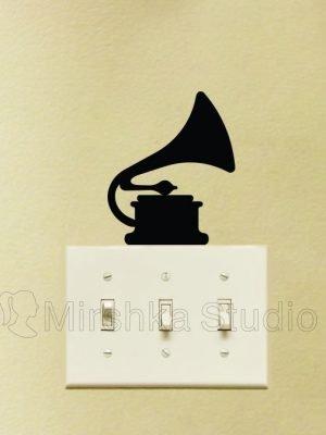 gramophone retro sticker