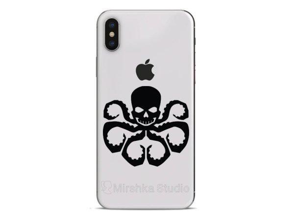 hydra skull iphone sticker