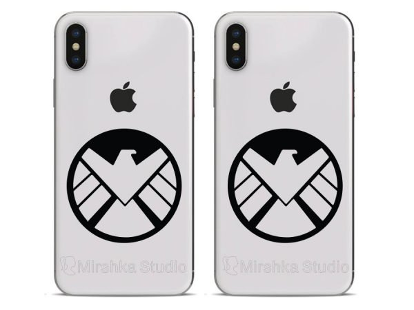 the shield logo iphone stickers