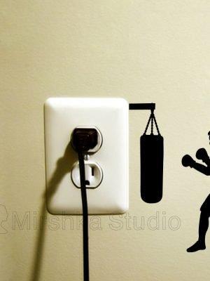 boxing light switch sticker