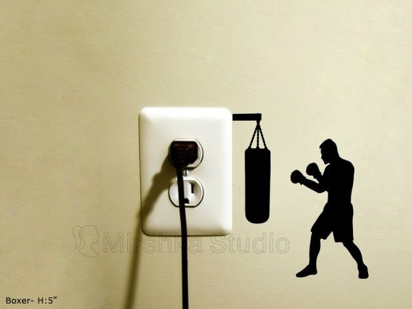 boxing light switch sticker