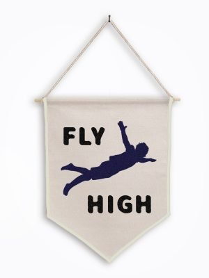 fly high black wall hanging