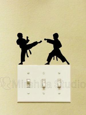 karate kids wall stickers