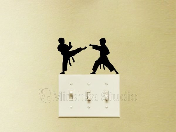 karate kids wall stickers