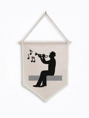 trumpet wall art