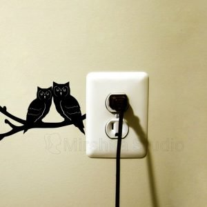 two owls wall sticker