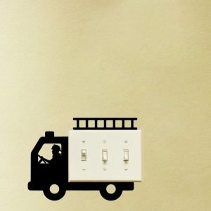 FIREtruck light switch sticker