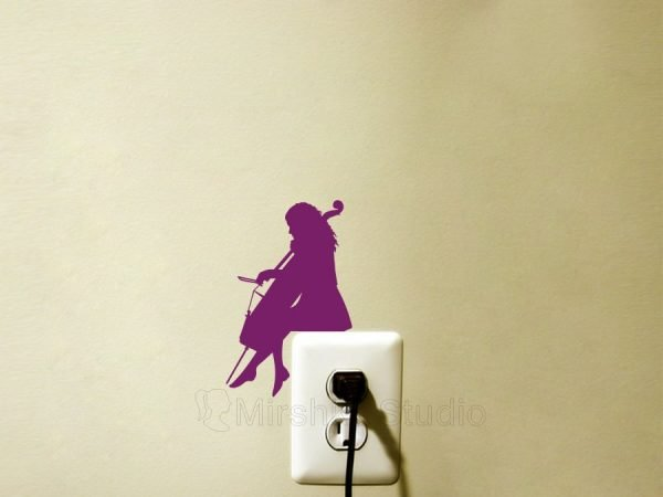 cellist music sticker