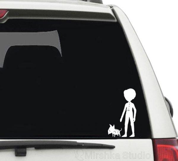 frankenweenie car sticker