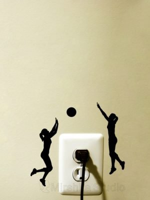 girl volleyball palyer sticker