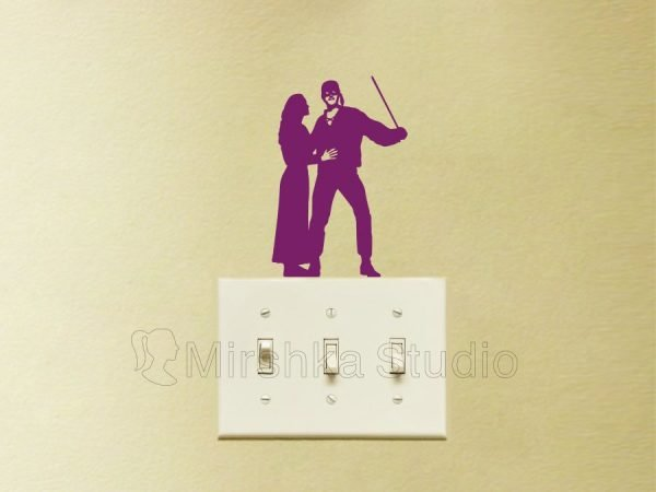 princesess bride light switch decal