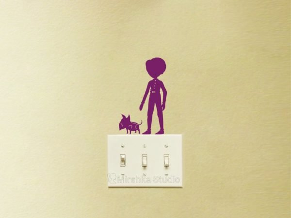 victor and sparky light switch decal