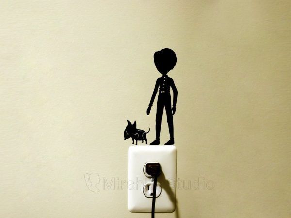 victor and sparky wall sticker