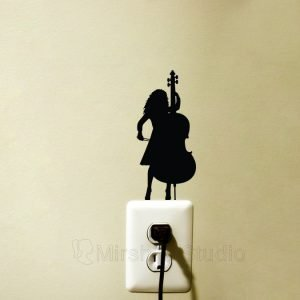 woman playing contrabass
