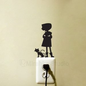 coraline wall sticker