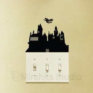 Hogwarts School light switch sticker
