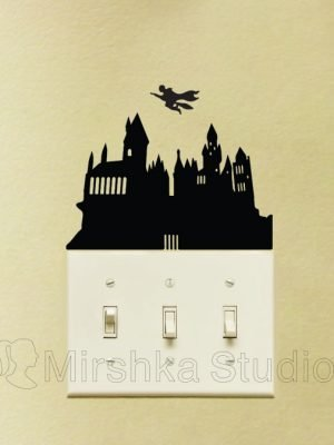 Hogwarts School light switch sticker