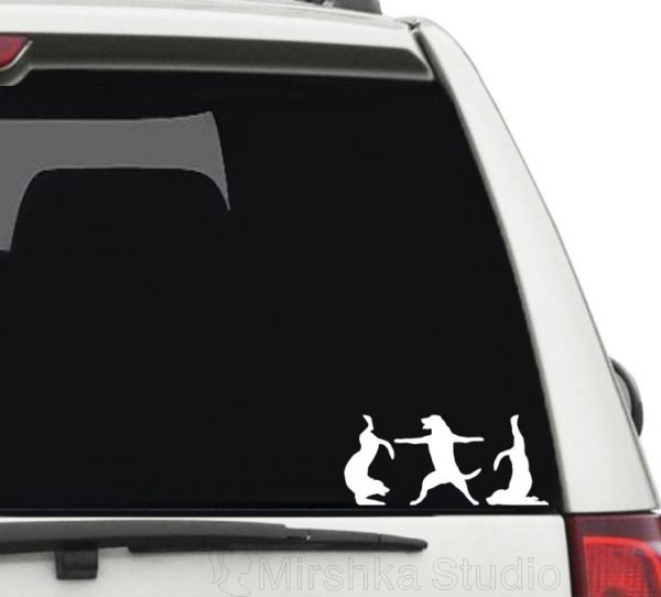 animal yoga car decals