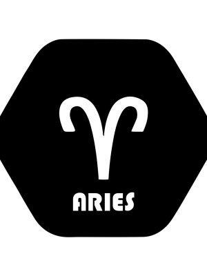 aries symbol sticker