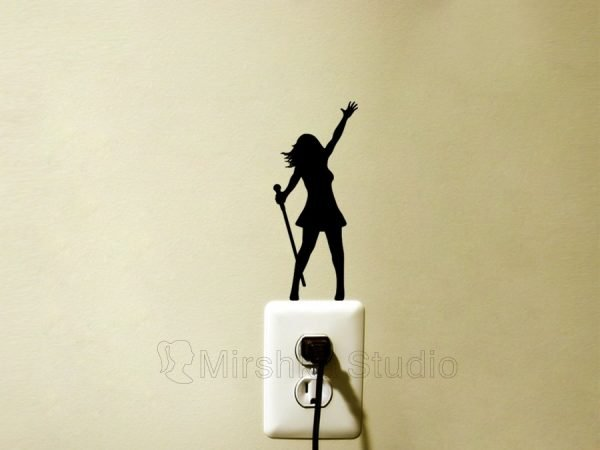 female singer wall sticker