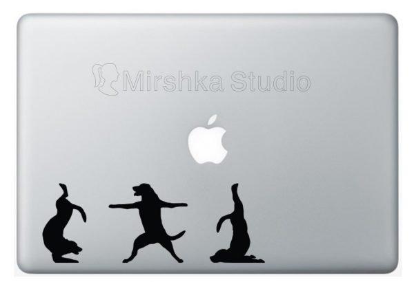 funny dogs laptop sticker
