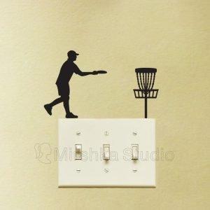 golf disc light switch sticker
