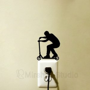 man on scooter outlet sticker