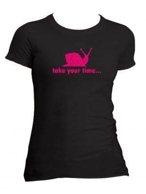pink snail t shirt