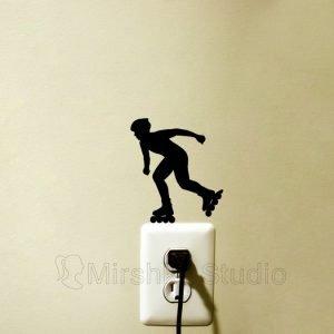 roller skate wall sticker