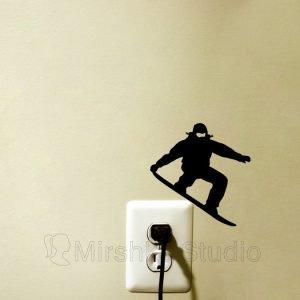 snow board light switch sticker