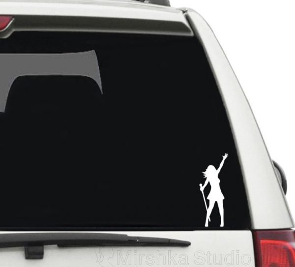 woman singer car sticker