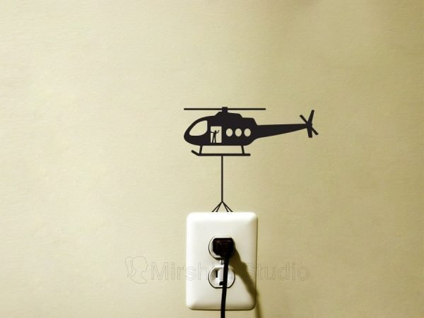 helicopter light switch sticker